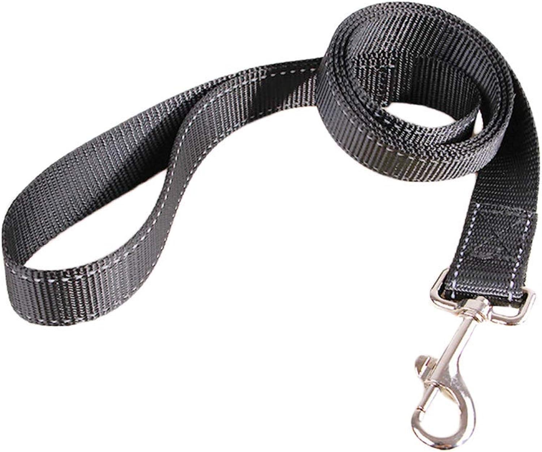 Dog Outdoor Leash Pet Leash Nylon NoTangle Dog Rope for Walking and Traning,Black,Length is 125cm Walking Leash