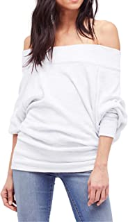 Shy Velvet Women's Off Shoulder Batwing Sleeve Loose Pullover Sweater Knit Jumper Top