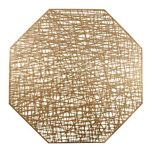 U'Artlines Octagonal Placemats Hollow Out Mats Vinyl Non-Slip Heat...