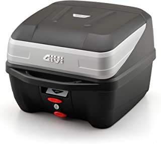 GIVI (ジビ) バイク用 リアボックス 32L 未塗装ブラック シルバーパネル モノロックケース B32N BOLD 97066