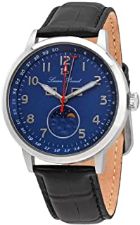 Lucien Piccard Blue Dial Men's Leather Watch 40016-03
