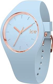 Ice-Watch - Ice Glam Pastel Lotus - Montre Bleue pour Femme avec Bracelet en Silicone