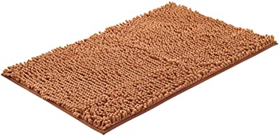 Luxury Chenille Bathroom Bath Mat, Non Slip Extra Soft Absorbent Shaggy Bath Rugs, Thick Microfiber Carpet Mat for Tub Bath Room-i 33x50cm(13x20inch)