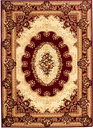 Carpeto Teppich Orientteppich Rot 250 x 350 cm Ornamente Konturenschnitt Muster Iskander Kollektion