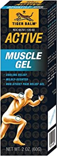 Original TIGER BALM Active Muscle Gel,虎标ACTIVE酸痛胶,Non-Greasy,muscular Pain Relief cream 60g