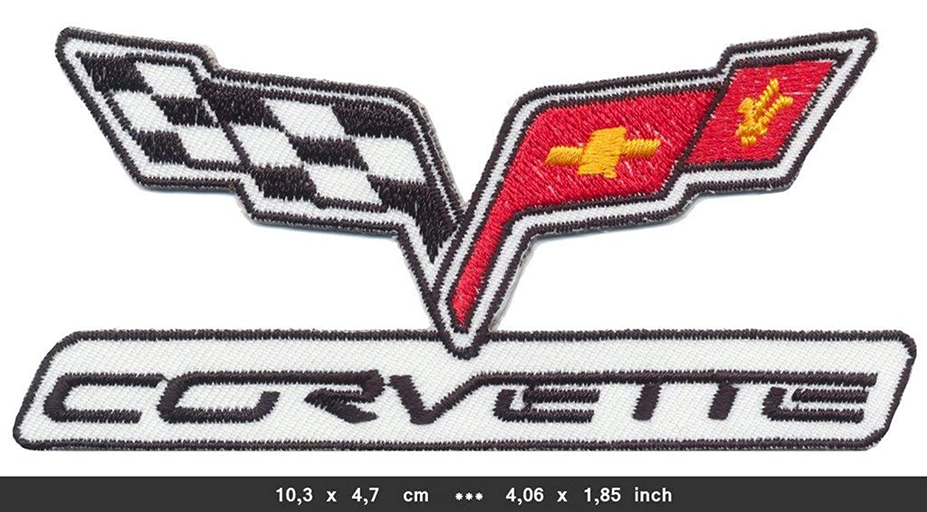 CHEVROLET CORVETTE Iron Sew On Cotton Patch Sports Cars V8 USA by RSPS Embroidery n Decals
