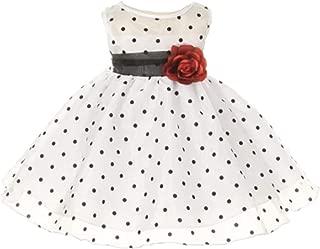 Girls Organza Polka Dot Special Occasion Dress