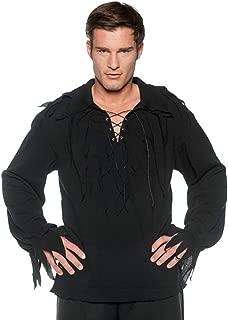 Tattered Pirate Shirt Cream Adult Costume
