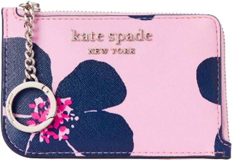 Kate Spade Cameron Grand Flora Medium L-Zip Card Holder