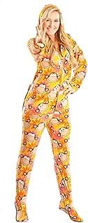 Jumpin Jammerz Retro Monkeys Drop Seat Hoodie Footed Pajamas