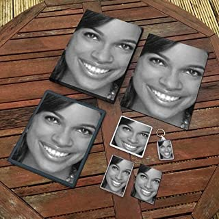 Rosario Dawson - Original Art Gift Set #js005 (Includes - A4 Canvas - A4 Print - Coaster - Fridge Magnet - Keyring - Mouse Mat - Sketch Card)