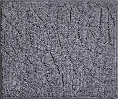 Linea Due TERAZZO Alfombra de Baño, Poliéster, Antracita, 50x60 cm