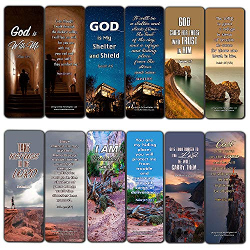 Christian Bookmarks Scriptures to Help You Survive The Storms of Life (30 Pack) - Handy Reminder About God's Comfort and Love