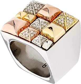 Michael-Kors Pyramid Pave Multi-Color Size 8 Ring MKJ31909988