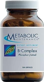 Metabolic Maintenance B-Complex Phosphorylated - Active B Vitamins with Methyl B12, B6 as P-5-P + Methylfolate 5-MTHF (100 Capsules)