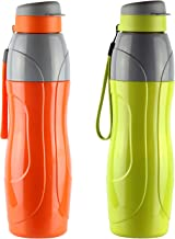 Cello Puro Sports Plastic Water Bottle Set, 900ml, Set of 2, Assorted