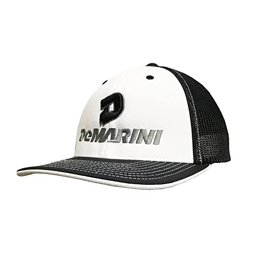 e87bc8441e6719 99BATS DeMarini Stacked D Flexfit Hat - White/Black/Charcoal