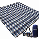 HiSung Picnic Blanket Extra Large Picnic Blankets Beach Blanket 80'x80' Waterproof Picnic Blanket Foldable Outdoor Picnic Mat for Beach,Camping,Hiking,Wet Grass,Kids Playground