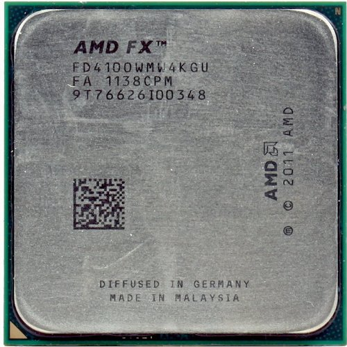AMD FX-4100 3.6GHz 2x2MB/8MB L3 Socket AM3+ Quad-Core CPU