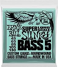 Ernie Ball 5-String Super-Long Scale Slinky Bass Set, .045 - .130