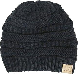 Luxury Divas Thick Slouchy Knit Oversized Beanie Cap Hat