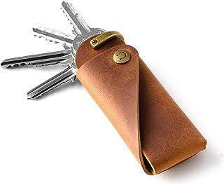 Schlüsselanhänger & -halter aus Leder | Holz braun, Crazy Horse Leder, Schlüsseletui, Schlüsselanhänger, Schlüsselring, Sc...