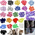 JOYJULY 140pcs Pet Cat Kitty Soft Claws Caps Control Soft…