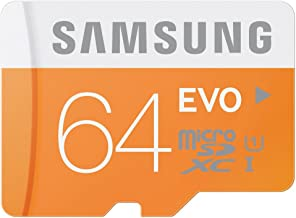 Samsung 64GB MicroSD XC Evo Class 10 UHS-1 TF MicroSDHC TransFlash High Speed Memory Card MB-MP64D 64G 64 GB GIGS 25 PACK LOT OF 25 with USB SoCal Trade SCT Dual Slot MicroSD /& SD Memory Card Reader Retail Packaging M.E64V.RTx25.550