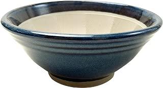 元重製陶所 石見焼 すり鉢 6号 (直径18cm・すべり止め付) 青なまこ