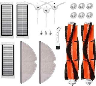 Kit De Repuestos Compatible con Xiaomi Mi Robot Roborock S50//S51//S55 S6,1*Cepillo Principal 3*Cepillo Lateral 3*Filtros Hepa 6*N/úCleo De Filtro 2*Trapos Para Limpiar 1*Ayutante de Limpieza3*Tornillo