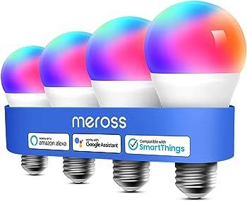 4-Pack Meross Smart WiFi LED Light Bulb