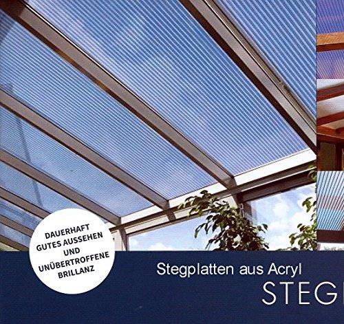 Acryl Doppelstegplatten 16 mm - glasklar - Zweifachsteg - Länge: 3500 mm - Breite: 980 mm -(Euro 39,90/qm)
