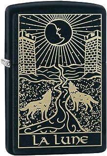 Zippo Wolf Tarot Card Black Matte Pocket Lighter