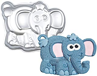 WJSYSHOP 10 Inch Elephant Shaped Aluminum 3D Cake Mold Baking Mould Tin Cake Pan