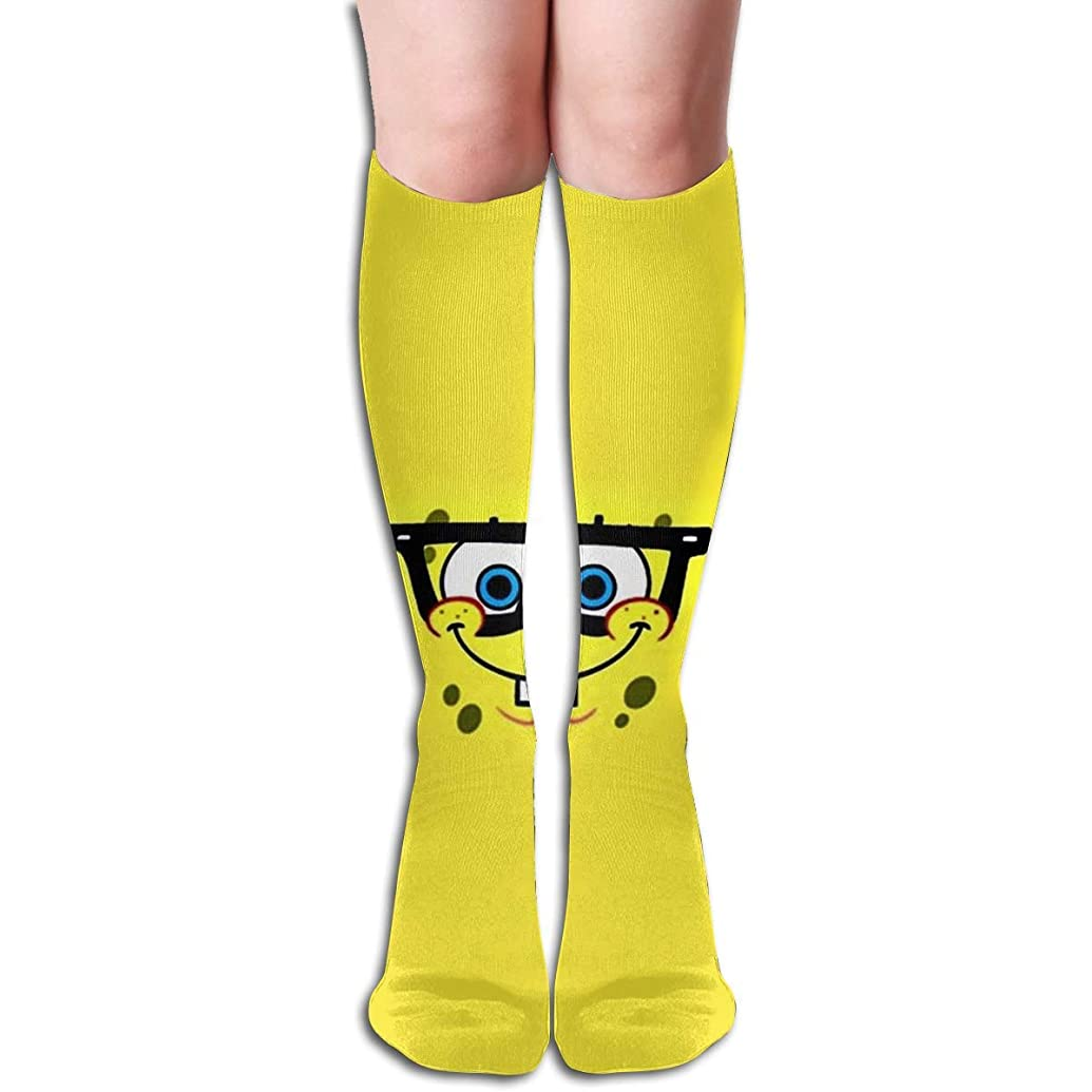似ているオリエント霧深いqrriyスポンジボブチューブストッキングレディース冬暖かい膝ハイソックスブーツ靴下