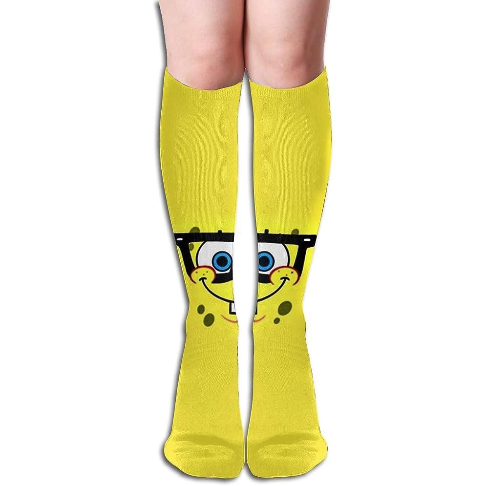 ファーザーファージュ多年生理想的qrriyスポンジボブチューブストッキングレディース冬暖かい膝ハイソックスブーツ靴下