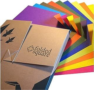 Folded Square Origami – Conjunto de Regalo de Papel para Papiroflexia | 100 Hojas, 15cm Cuadrado | Colección de Colores Opuestos