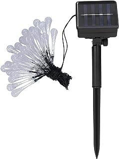Staright Fio de luz solar para lâmpada solar Fio de luz LED impermeável ao ar livre para iluminação de natal externo Fio p...