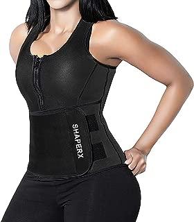Women Neoprene Hot Sweat Sauna Suit Waist Trainer Vest Adjustable Waist Trimmer Belt Tank Top