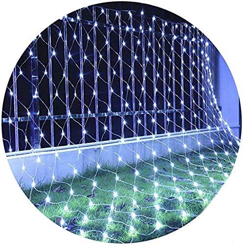 KALRTO Gordijnlichten, waterdichte led-mesh-lichtjes, decoratieve lichtketting, geschikt voor tuin, bruiloft, tuin, wit