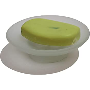 Pure Source India Soap Dish for Washroom Or Kitchen, Simply Place Where Want, No Need to Screw/Fitting, Made by Glass (3.25 Inch)