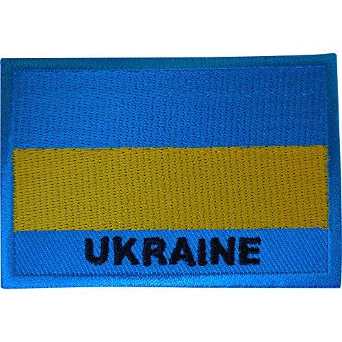 Ukraine-Flagge, Aufnäher zum Aufbügeln oder Aufnähen auf Kleidung, Tasche, Basteln, besticktes Abzeichen