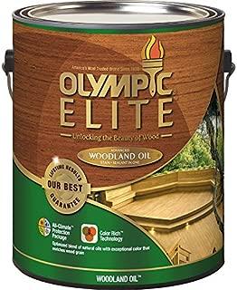 Olympic ELITE 8011301 Pre-Tinted Woodland Oil Mahogany Blaze Transparent Exterior Stain 128-fl oz