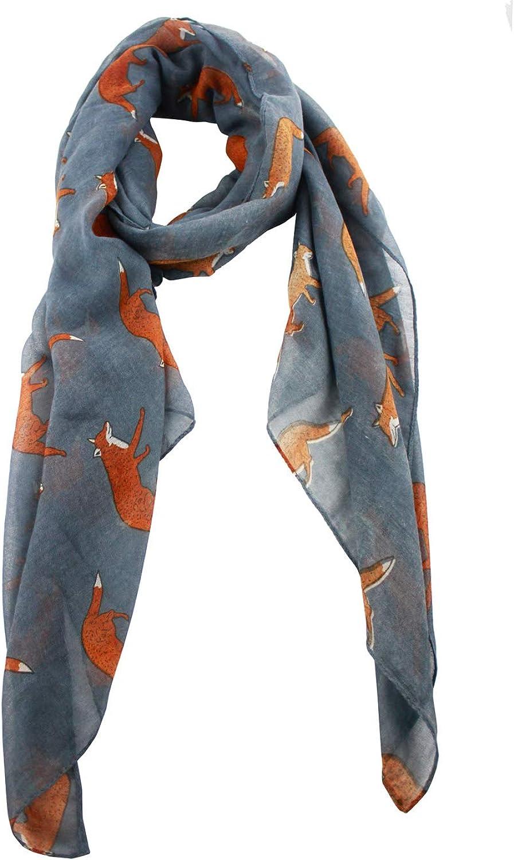 Block Garden Women's Warmer Scarves Fashion Animal Printed Cottonlinen Scarf Wrap