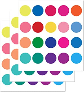 PARLAIM Rainbow Multi Size Kids Wall Stickers, Peel and Stick Dot Decals Polka Dot Wall Decals for Kids Room, Living Room, Bedroom, Classroom Decorations Multicolor (2 inch X 60 Circles)