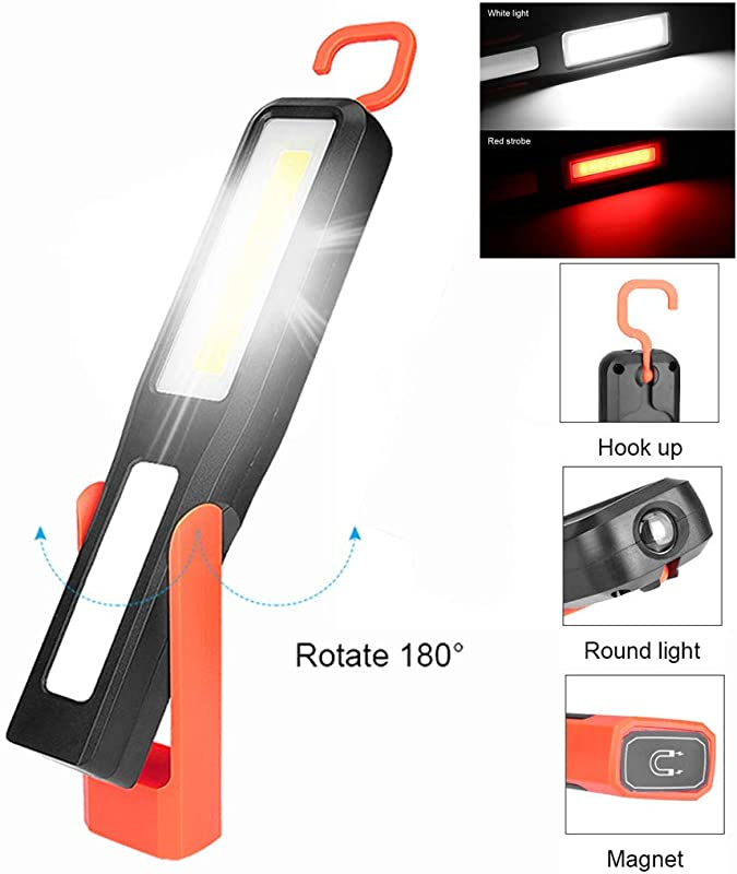 Gotian LED Magnetic Work Light Car Garage Mechanic Home Rechargeable Torch Lamp Suitable For Self Defense Camping Trekking Night Riding Car Repair