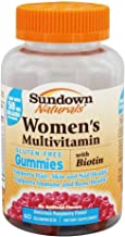 Sundown Naturals Women's Multivitamin with Biotin Gluten-Free Gummies Raspberry Flavor - 60 ct, Pack of 2