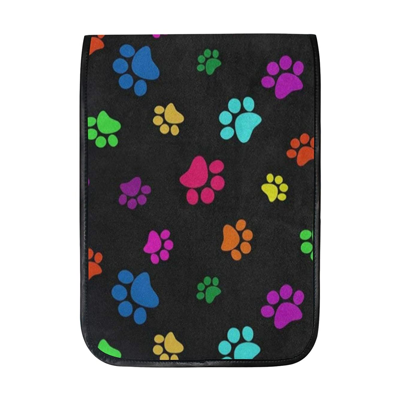 Ipad Pro 12-12.9 inch Sleeve Case Bag for Surface Pro Colorful Dog Paw Print Black Mac Protective Carrying Cover Handbag for 11