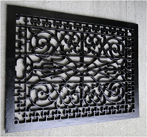 Read About Vintage Old Style Rectangular Floor Grate Replica, Huge! Made of Solid Cast Iron