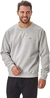 Iron Mountain Mens Reclaimed Yarn Eco Friendly Anti Pil Flexible Comfortable Crew Neck Sweatshirt Soft Fleece Top Jumper, ...